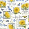 Henry Glass My Sunflower Garden Small Blocks White