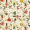 Andover Fabrics Twelve Days of Christmas Twelve Days Icons Cream
