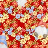 Henry Glass Fabrics Gnome is Where Your Garden Grows Peeking Gnomes Red