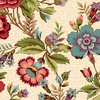 Henry Glass Fabrics Tarrytown Main Floral Cream