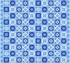 Henry Glass Blue Dream Double Border Tile Blue