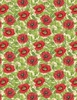 Wilmington Prints Harlequin Poppies Poppies and Leaves Cream