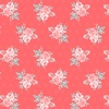 Windham Fabrics Colette Small Rose Bouquet Dark Coral
