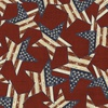 3 Wishes Fabric Patriotic Summer Stars Red
