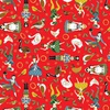 Andover Fabrics Twelve Days of Christmas Twelve Days Icons Red