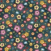 Michael Miller Fabrics Born To Sew Background Bouquet Teal