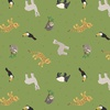 Lewis and Irene Fabrics Small Things World Animals South American Rainforest