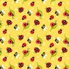 Henry Glass Fabrics Gnome is Where Your Garden Grows Ladybugs Yellow