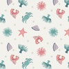 Lewis and Irene Fabrics Small Things By The Sea Ocean Creatures Cream