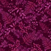 Henry Glass Dragonfly Garden Fern Burgundy