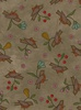 Maywood Studio Home Sweet Home Flannel Birds and Flowers Grey Cobblestone