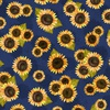 Wilmington Prints Country Road Market Sunflower Blue