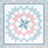 Eaton Place Floral Kaleidoscope (Blue) Free Quilt Pattern