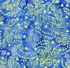 Maywood Studio Bejeweled Batiks Hearts and Flowers Blue/Yellow