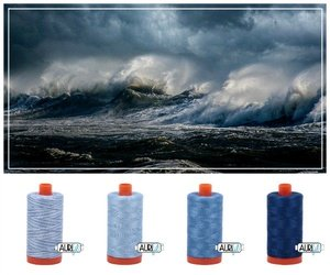 Aurifil Thread Palette Builder - Storm at Sea