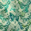 In The Beginning Fabrics Seasons Butterflies Green