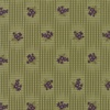 Moda Sweet Violet Gingham and Floral Leaf