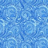 Henry Glass Blue Dream Paisley Medium Blue