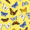 Clothworks Sunny Fields Butterflies Yellow
