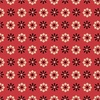 Clothworks Wiggle Butts Bandana Flower Red