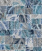 Maywood Studio Turtle Bay Transparent Palms Blue/Gray