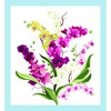 Clothworks Orchid Fancy Panel White