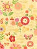 Wilmington Prints Sing Your Song Flowers and Sentiments Yellow