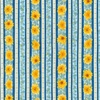 Robert Kaufman Fabrics Gardenside Path Floral Stripe Yellow