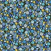 Andover Fabrics Bloom Packed Flowers Blue