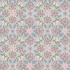 Lewis and Irene Fabrics Winter in Bluebell Wood Floral Geometric Grey