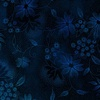 In The Beginning Fabrics Seasons Night Flowers Blue