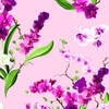 Clothworks Orchid Fancy Bouquets Orchid