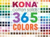 Color Your World - Kona Cotton Solids 365 Fat Quarter Bundle - Auto Ship