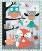 Studio E Fabrics Owl's Woodland Adventure Panel