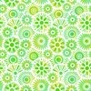 In The Beginning Fabrics Unusual Garden II Blooms White/Green