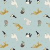 Lewis and Irene Fabrics Small Things World Animals South American Light Blue