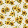 Benartex Accent on Sunflowers Sunflower Meadow Linen