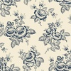 Windham Fabrics Abigail Blue Large Flower Cream