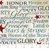 Northcott Stonehenge Stars and Stripes Flannel Text