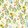 Clothworks Garden Notes Bug Floral Cream