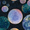 3 Wishes Fabric Celestial Journey Planets Black