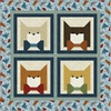 Colorful Cats - Fancy Cat Free Quilt Pattern