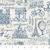 Northcott Paris Always A Good Idea Toile Blue