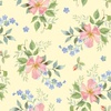Henry Glass Garden Inspirations Tossed Small Roses Multi/Yellow