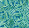 Maywood Studio Bejeweled Batiks Wonky Squares Teal/Blue