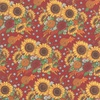 Moda Happy Fall Harvest Bouquet Barn Red