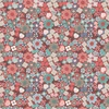 Lewis and Irene Fabrics Michaelmas Multi Floral Red