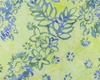 Northcott Banyan Batiks Boho Beach Flowers Leaves Lime Green/Blue