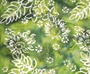 Northcott Banyan Batiks Boho Beach Flowers Leaves Green/White