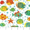 Northcott Stonehenge Kids Undersea 3D Swimming Fish White